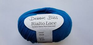 DEBBIE BLISS RIALTO LACE 100% EXTRA FINE MERINO WOOL 50g - various colours