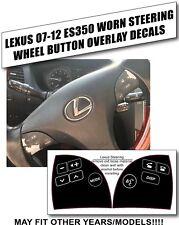 2007-2012 Lexus Es350 Steering Wheel Control Button Decals Stickers