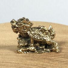 Miniature Figurine Brass Dragon Turtle Kirin Animal Metalwork