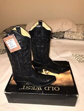 Old West LF1579 Black Cowboy Boot Womens 6 (Brand New)