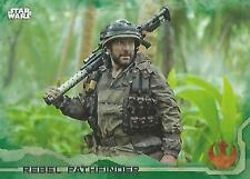 "Star Wars Rogue One Series 1: #57 ""Rebel Pathfinder"" Green Parallel Base Card"