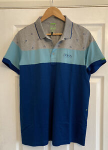 Mens Hugo Boss Martin Kaymer Golf Polo Shirt, Size L Fitted, New Without Tags