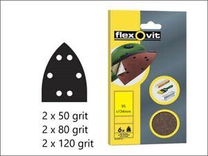 Job lot 10 pack Detailed Sander Sandpaper 95mm x 134mm x6 Sheets 50/80/120 grit