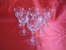 6 verres à vin blanc en cristal D' ARQUES service AUTEUIL