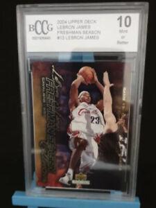 2003-04 Lebron James Rookie Card BCCG 10 Freshman Season #13
