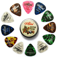 20pcs Alice Acoustic Electric Guitar Picks and 1 Round Metal Picks Box