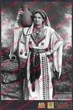 Chalil Raad Palästina Orient Tracht Frau Jerusalem Kaiserwappen Dt. Reich 1914