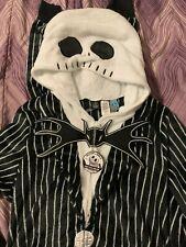 Disney - Jack Skellington Unisex Hooded Union Suit Costume Pajamas Sz 3X (NWT)