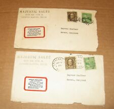2 (1920's) MAJESTIC SALES Grand Rapids, MI Envelopes w/ GERMAN Million STAMP +