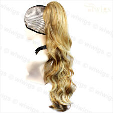 Wiwigs Blonde Mix Long Jaw Clip In Ponytail Hairpiece Extension