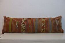 12'' x 40'' Bedding Pillow Kilim Pillow,Long Boho Bed Pillow For Bed 30x100 cm
