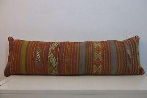 12'' x 40'' Bedding Pillow Kilim Pillow,Long Boho Bed Pillow For Bed 30x100 cm