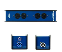 Elite Core Stage Power Drop Box PowerCon Thu Inputs to 4 AC Female Edison 3Prong
