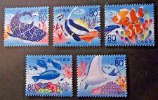 JAPAN USED 2007 PREFECTURE OKINAWA SEA LIFE 5 VALUE VF COMP SET SC # Z801 - Z805