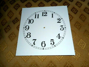 "Square PAPER (CARD) Clock Dial - 3 1/2"" MINUTE TRACK - Arabic - MATT WHITE-Parts"