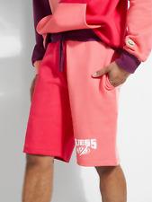 Guess Men's GUESS x J Balvin Color-Blocked Fleece Shorts Pink
