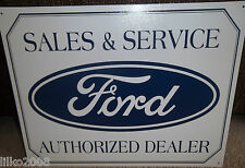 FORD,SALES & SERVICE, AUTHORIZED DEALER  METAL WALL SIGN 40x30 cm Mustang/Capri
