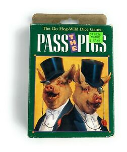 Pass The Pigs Milton Bradley Vintage 1992 Game Of Chance And Pigs - Complete