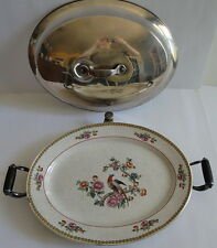 Wheildon Ware F. Winkle & Co. Pheasant c.1911 Warming Dish Platter Tray w/Cover