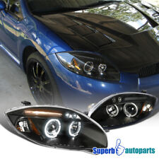 2006-2011 Mitsubishi Eclipse Halo LED Projector Headlights Black SpecD Tuning