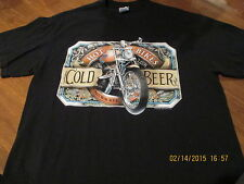 Hot Bikes-Cold Beer, Milwaukee USA, Sturgis 2007, Large Tee Shirt