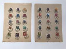 2 Fogli Francobolli Germania 1946/47- Francob. Lavoratori e Colomba-Post Reich