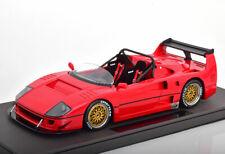 TOP MARQUES 1989 FERRARI F40 LM BEURLYS BARCHETTA SPIDER RED 1/18 LE of 500