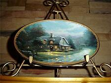 Thomas Kinkade's Lamplight Village, Lamplight Glen, Bradford Exchange Plate