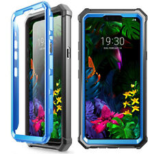 LG G8 ThinQ CasePoetic[Hybrid]ClearTPUBumperShockproofCover Blue