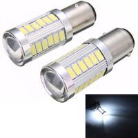 2Pcs BA15D P21W 1157 33SMD White LED Car Backup Reverse Head Light Bulb New