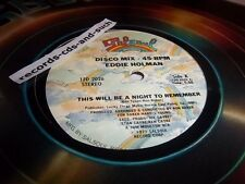 """EDDIE HOLMAN-THIS WILL BE A NIGHT TO REMEMBER/TIME WILL TELL-2026-NEW SEALED 12"""""""