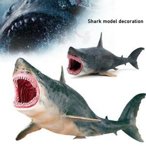 Small Megalodon Shark Ocean Animal Model Toy Education Figure  Gift -UK