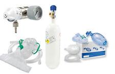 SET Druckminderer+Sauerstoffflasche 0,8 l+Beatmungsbeutel (Notfall Arzt Praxis)