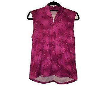 Women's XL dark pink sleeveless cycle jersey zip classic Performance 21-2183