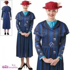 Mary Poppins Returns Costume Disney Ladies Nanny McPhee Book Day Fancy Dress