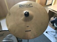 "DOPPLER DRUMS handcrafted 16"" Crash - Einzelstück"
