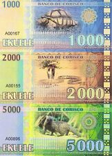 Corisco set 6 banknotes 2013 UNC (private issue)