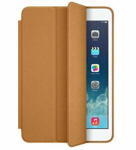 GenuIne APPLE ipad 2nd Generation 7.9 Mini 2 Smart Case LEATHER Saddle Brown NEW