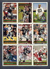 1996 Topps Oakland Raiders TEAM SET - (18) Cards
