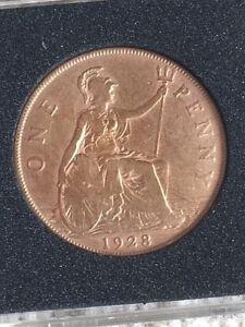 1928 British UK Penny