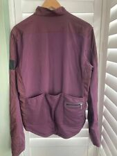 Rapha Classic Winter Windblock Rich Burgundy L/S Cycling Jersey Large Superb!!