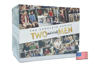 Two and a Half Men: The Complete Series (DVD Set, 2015) Same Day Shipping