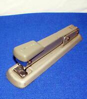 vintage BATES Model 56 mid century METAL STAPLER -- GRAY --- #1