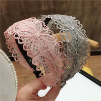 Fashion Women Girls Lace Headband Hairband Bow Knoted Hair Band Hoop Accessories