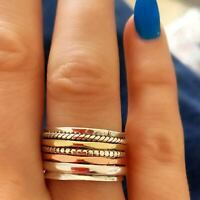 925 Sterling Silver Band & Brass Spinner ring Jewelry Handmade All Size g-02