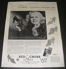 Print Ad 1934 Red Cross Shoes FOOTWEAR Women's Lyda Roberti broadway star Style