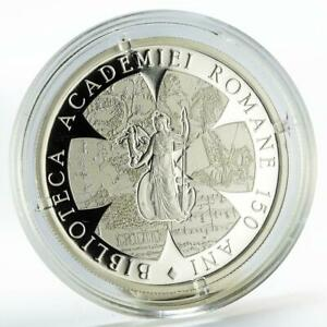 Romania 10 lei Library of Romanian Academy proof silver coin 2017