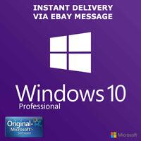 Microsoft Windows 10 Pro Professional Key Vollversion Code 32 & 64 Bit Product