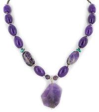 $220Tag Silver Navajo Natural Amethyst Sugilite Native American Necklace