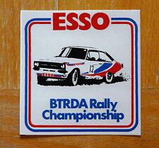Esso BTRDA Rally Championship Ford Escort Mk2 Retro Motorsport Sticker / Decal